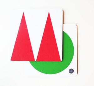 GRYTUNDERLÄGG grön/röd