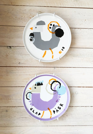 ROOSTER plate gray