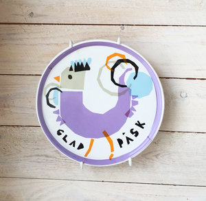 ROOSTER plate purple