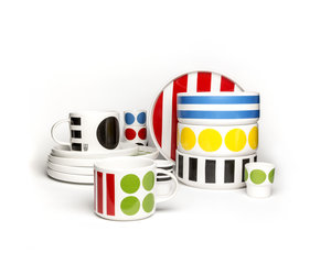 DIDO cup and saucer - multicoloured