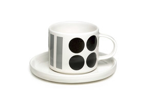 DIDO cup and saucer - black/gray