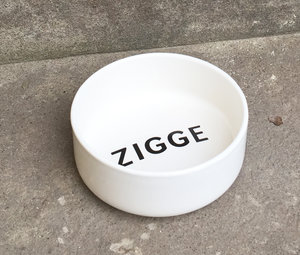 FIDO  white bowl with name