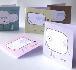 Five cards together