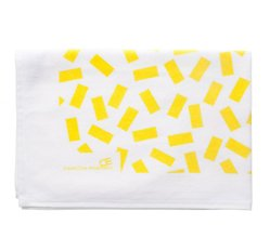SONJA YELLOW velour towel