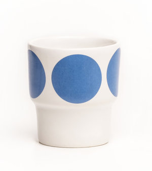 EGGCUPS blue dots X2