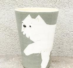 BYRACKAMUGG långhårig katt
