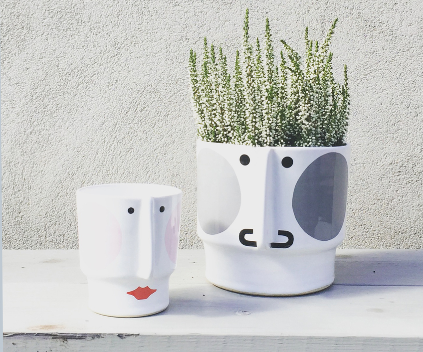 Hugo and Hedvig, two planters with personality.